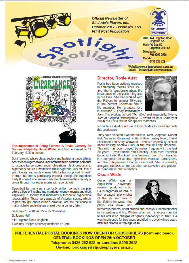 Newsletters - St  Judes Players